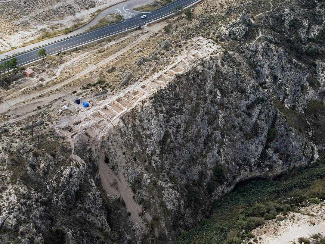 Vista aérea del Monastil