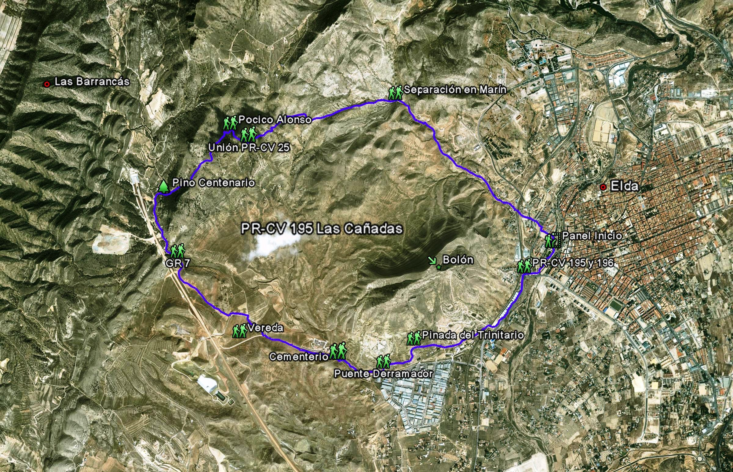 Mapa PR-CR 195 Las Cañadas
