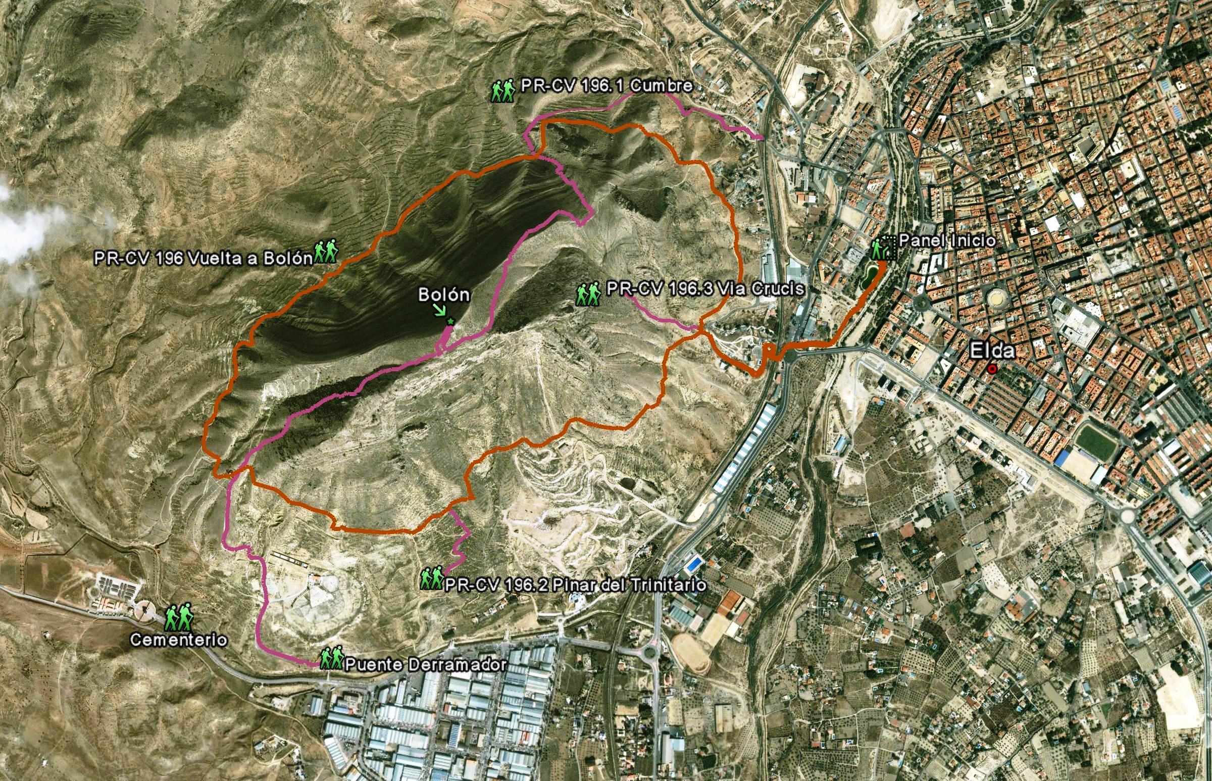 Mapa PR-CR 196 Vuelta a Bolón