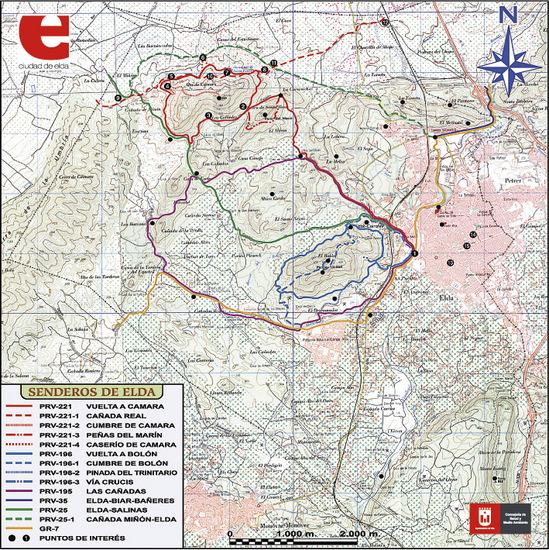 Mapa PR-CR 221 Vuelta a Camara
